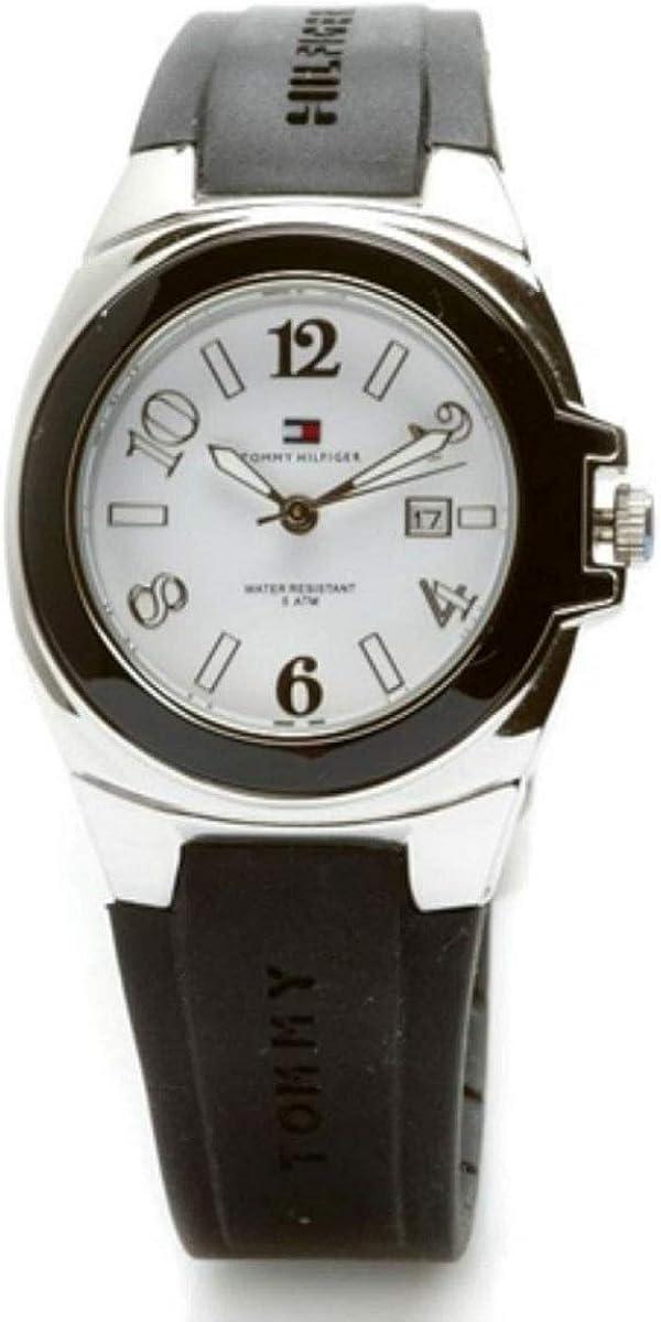 Tommy Hilfiger Riverside 1780917 - Reloj de Mujer de Cuarzo, Correa de Caucho Color Negro