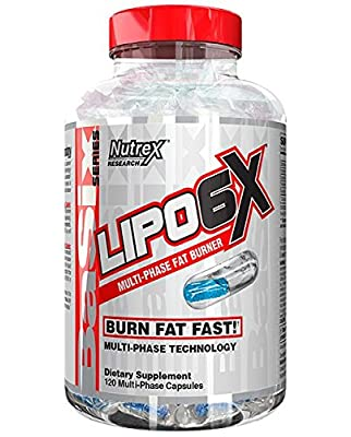 Nutrex Research Lipo 6X | Multiphase Liquid & Beadlet Rapid Thermogenic Fat Burner