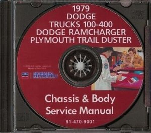 - COMPLETE & UNABRIDGED 1979 DODGE TRUCK PICKUP REPAIR SHOP & SERVICE MANUAL & BODY SHOP CD INCLUDES: Power Wagon, Li'l Red Express, Warlock II, Sport Utility, 100-400 Series Conventional, Ramcharger, Trail Duster, Crew & Club Cab