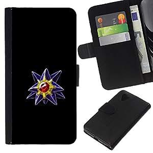 LECELL--Cuero de la tarjeta la carpeta del tirón Smartphone Slots Protección Holder For LG Nexus 5 D820 D821 -- P0kemon Diamond Gem --