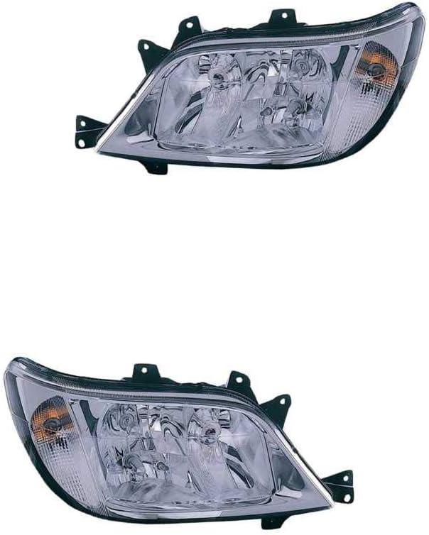 Halogen Scheinwerfer Set links /& rechts Hauptscheinwerfer Frontscheinwerfer H3 H7 mit Lampentr/äger f/ür Model Sprinter 4-T Bus 904 901 902 903