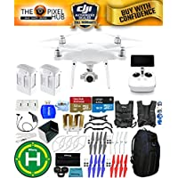 DJI Phantom 4 Advanced+ Drone MEGA Ready To Fly EXTREME ACCESSORY BUNDLE with Blue Pro II Backpack, Vest Strap, Extra Props, Landing Pad Plus Much More (2 Batteries Total)