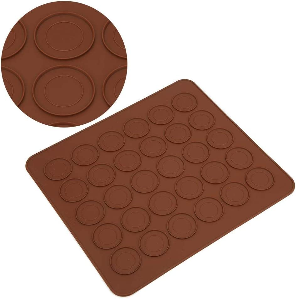 2 Pcs 30 Trous Macaron Silicone Tapis De Cuisson Moule Anti-Adh/ésif Macaron Pad Four Four Tapis De Cuisson DIY Feuille G/âteau Moules