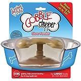 gobble stopper slow feeder - dog bowl insert to slow down eating