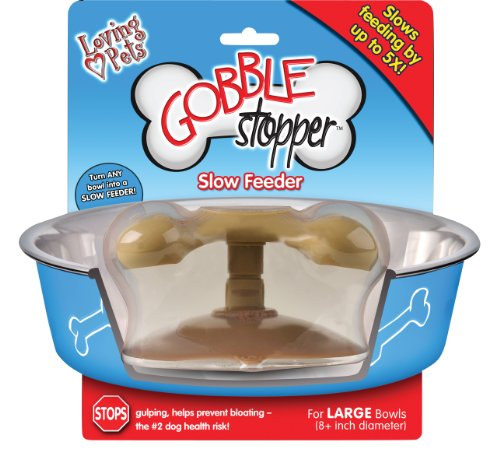 Loving Pets Gobble Stopper Slow Pet Feeding Supplies for Dogs, Large (Store Pets Dog N-feed)