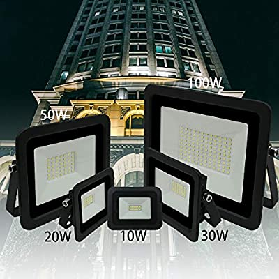 Ultra-Thin 10W 20W 30W 50W 100W Miheal LED Flood Light Spotlight Led Search Lamp 110V Floodlights for Outdoor Garden Street Square