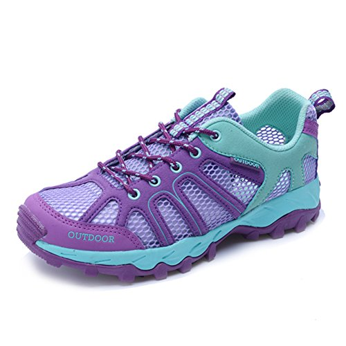 CraneLin Outdoor Hiking Shoes Walking Sneaker Boating Water & Trail Shoes for Men Women CRHW6110-Purple01-38
