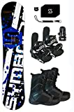 snowboard package - Symbolic 369 Rocker Snowboard & Bindings & Boots & Leash & Stomp Pad Package (163cm Symbolic 369 Rocker, 10 Men BLK Boots & BLK Bindings)