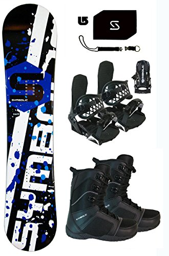 155cm Symbolic 369 Snowboard & Bindings & Boots & Leash & Stomp & Burton Decal Package