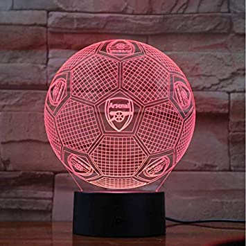 Ddbbhome Arsenal Fc Lampe Led Illusion 3d Fussball Tischlampe Haus Schlafzimmer Dekorative Stimmung Beleuchtung Neuheit Geschenke