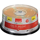 Maxell 625335 Music CD-RS, 80-Minute, 30-CT Spindle