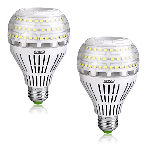 [Upgrade] 27W (250 Watt Equivalent) A21 Omni-directional Ceramic LED Light Bulbs, 4000 Lumens, 5000K Daylight, E26 Medium Screw Base Floodlight Bulb, Home Lighting, Non-dimmable, SANSI (2 PACK) ()
