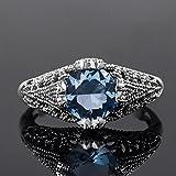 Women Fashion 925 Silver Blue Topaz Ring Wedding Engagement Jewelry New Sz 6-10#by pimchanok shop (9)