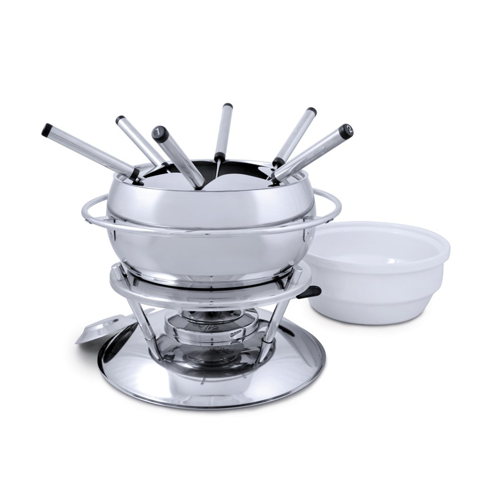 Swissmar Zuri 11 Piece Stainless Steel Fondue Set, Stainless Steel by Swissmar