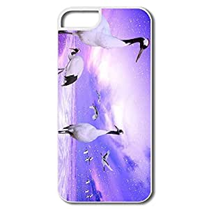 IPhone 5S Cases, Red Crowned Cranes Japan Cases For IPhone 5/5S - White Hard Plastic