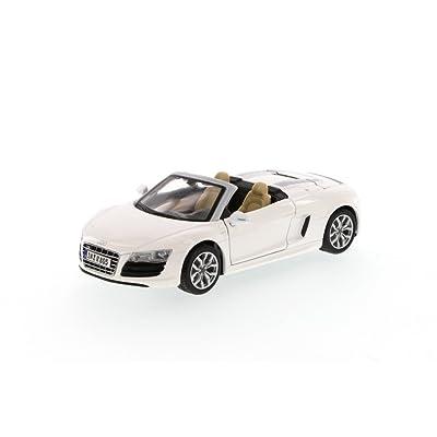 Audi R8 Spyder V10 White 1:24 Diecast Model Car: Toys & Games