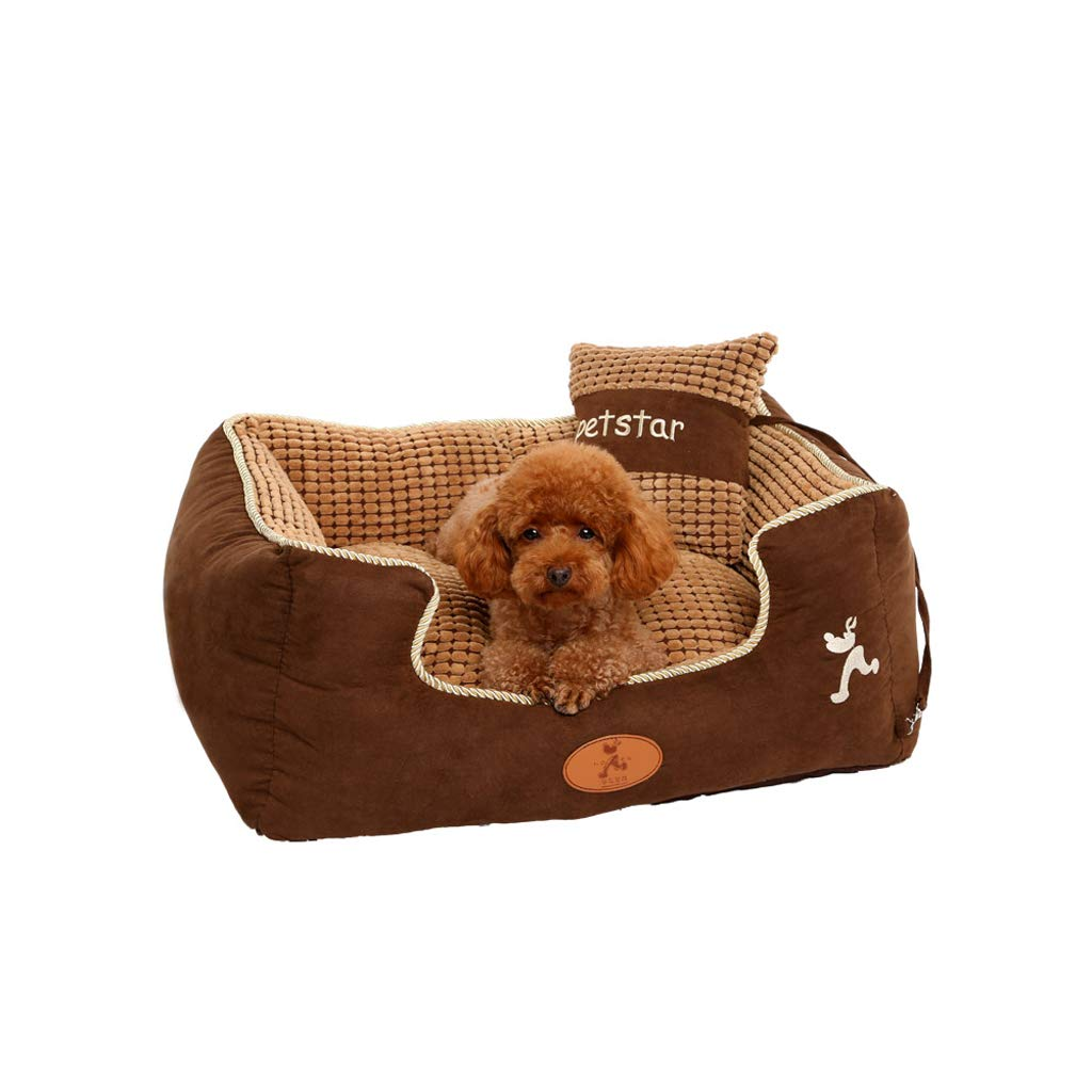 S Dog Bed, Removable and Washable Small Dog Autumn and Winter Warm Dog Bed Soft Cat Litter,Multiple Sizes (Size   S)