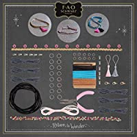 Trendy Design and Create Unique Works of Art to Wear Full Kit FAO Schwarz DIY Leather Jewelry Making Set with 250+ Pieces Best Arts and Crafts Gift for Girls Fashionable Necklaces and Bracelets