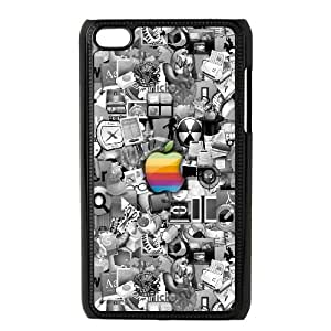 iPod Touch 4 Case Black Apple Logo1 Xbztr
