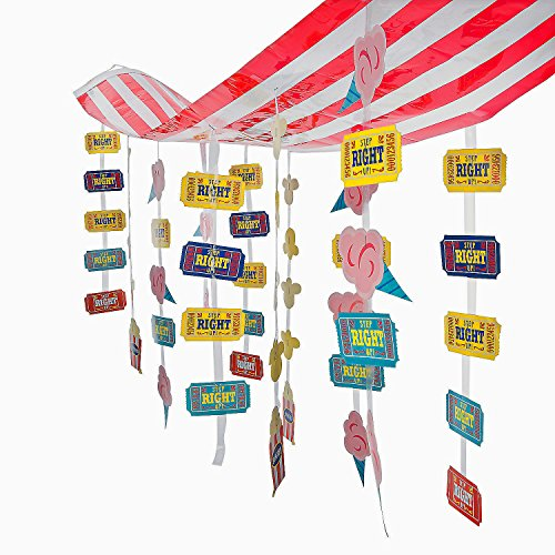 Fun Express Carnival Striped Decoration