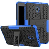 "Galaxy Tab A 8 2017 Case, High Impact Hybrid Drop Proof Armor Defender Full-body Protection Case Convertible Built in Stand For SamSung Galaxy Tab A 8.0"" SM-T380/T385 2017 Tablet-Black Blue"