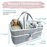 Lily Miles Baby Diaper Caddy - Large Organizer Tote