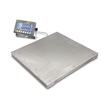 La Industria Báscula acero inoxidable/max 1500 kg; E=0,5 kg