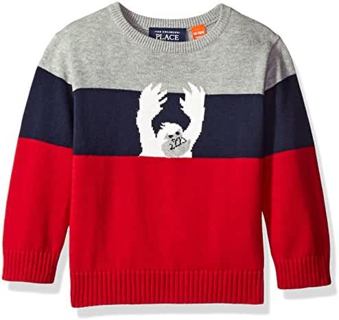 The Children's Place Boys' Striped Pullover Sweater