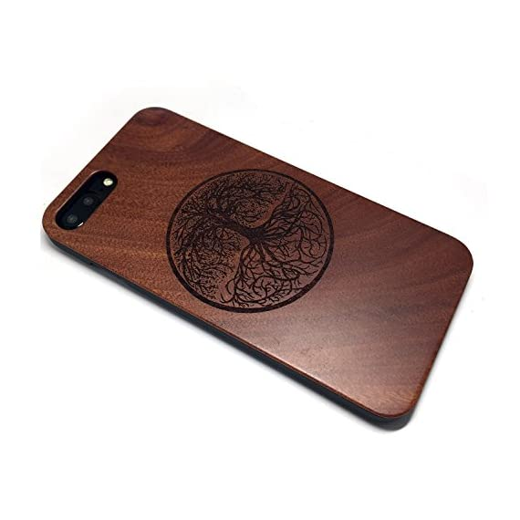 BTHEONE iPhone 7 PLUS Case, Slim Wood Protective Cover Case for iPhone 7 PLUS ,Handmade Natural Solid Wood Case,Real wooden Case (Rosewood-Yggdrasill) 2 √ Compatible with iPhone 7 Plus (Not for iPhone7) √ Naturally wood different,each wood back has a unique grain and texture. √ Specially designed for iPhone 7 Plus, has precise design for speakers, charging ports, audio ports and buttons.