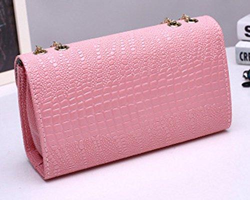 Femme Main Pink Housse Main Portefeuille En Soirée PU Sac Mariage En Cuir Noir Pochette Elégant Bandoulière de Sac A rxr6q1U