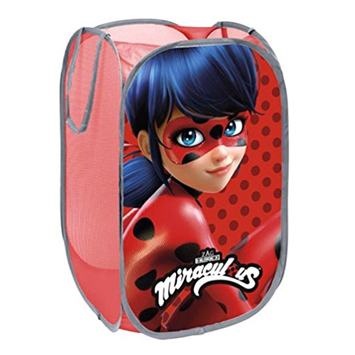 - Ladybug Miraculous Pop Up Laundry Basket,Toys Basket,Official Licensed