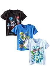 Disney Boys' Toy Story Crew-Neck T-Shirt (Pack of Three)