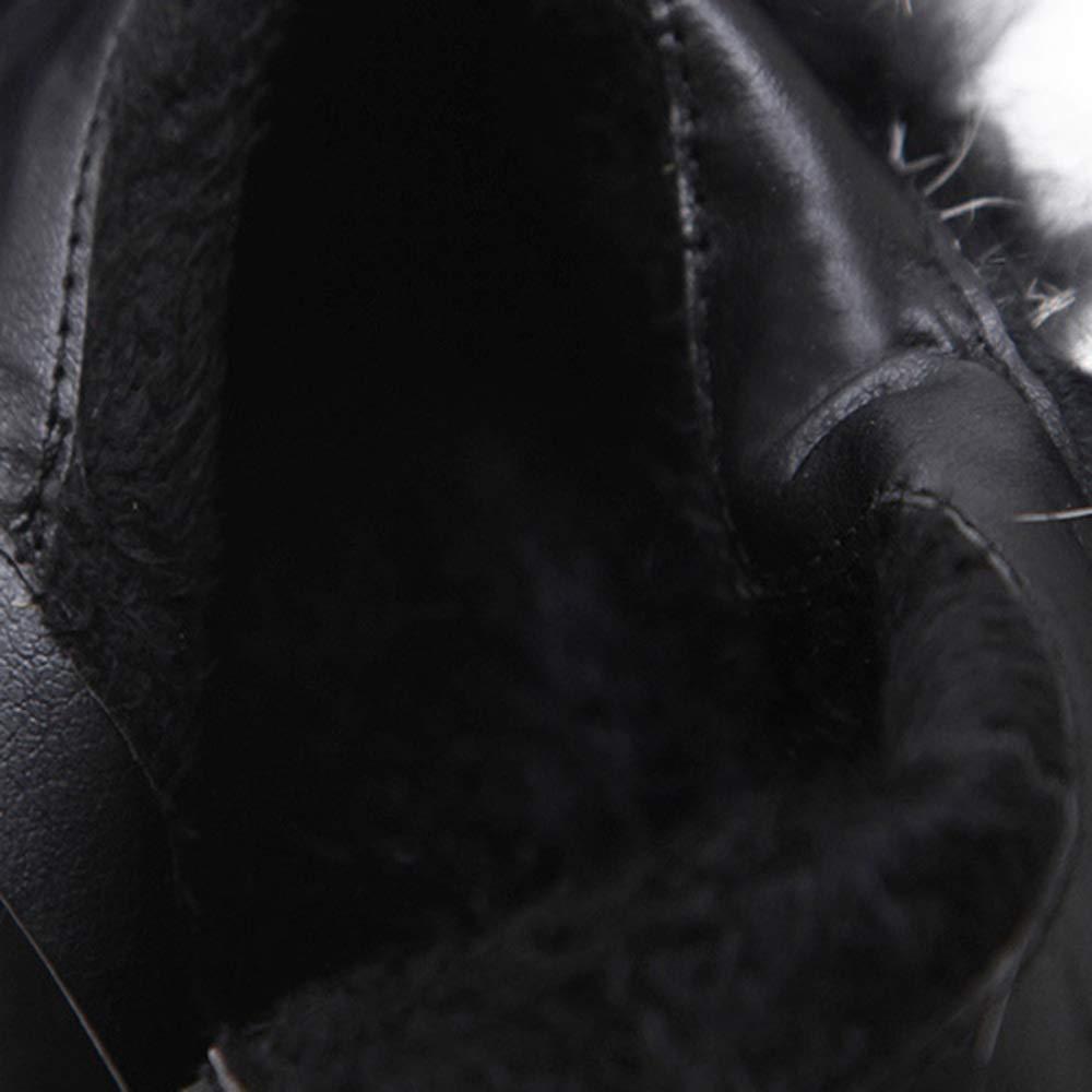 YIWANGO Stiefel Stiefeletten Stiefeletten Stiefeletten Herbst Und Winter Pelz Mit Hohen Absätzen Rau Mit Wasserdichten Plattform Lässig Stiefel  4b6ca1
