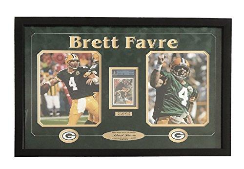 BRETT FAVRE SIGNED GRADED ROOKIE CARD FRAMED BGS JSA RC AUTOGRAPH (Brett Favre Framed)