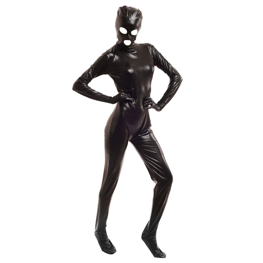 TiaoBug Mens//Womens Full Body Latex Rubber Zentai Bodysuit Catsuit with Open Eyes /& Mouth Costumes