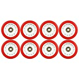 Blank Quad Wheels Derby Roller Skate Red 65mm x 35mm With Bearings