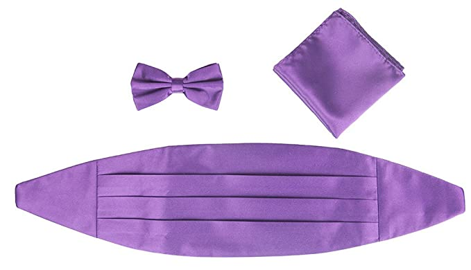 c405832412ac5 Amazon.com: Light Purple Cummerbund, Bowtie, and Pocket Square Set: Clothing