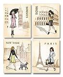 Paris, London, Roma and New York Set by Andrea Laliberte 11