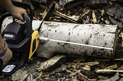ARC Manfacturing Cut-Rite Chainsaw Firewood Measuring Tool-Accessory, Detachable, Flexible, Stick, Cutting, Mounts Directly to bar nut.