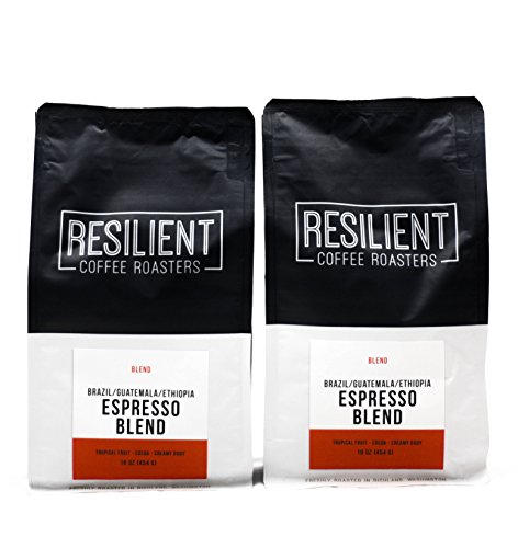 Roast To Order Specialty Coffee - 2-Pack Resilient Coffee Roasters - 3 Day Air Mail - Espresso