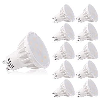 LOHAS 6W GU10 Bombillas LED, Regulable 3000K Blanco Cálido Bombillas, Equivalentes a Lámparas Halógenas