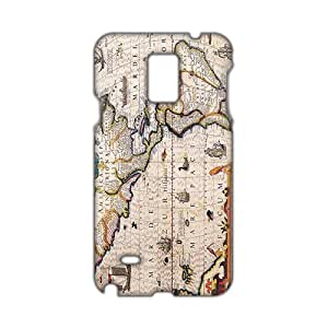 Angl 3D Case Cover Antique Maps Old World Vintage Maps Phone Case for Samsung Galaxy Note4