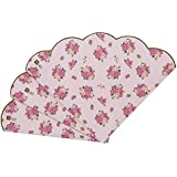 Talking Tables Truly Scrumptious Scalloped Floral Paper Table Napkins for a Tea Party, Pink  (20 Pack)