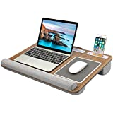 HUANUO Lap Desk - Fits up to 17 inches Laptop Desk  Built in Mouse Pad & Wrist Pad for Notebook  MacBook  Tablet  Laptop Stand with Tablet  Pen & Phone Holder