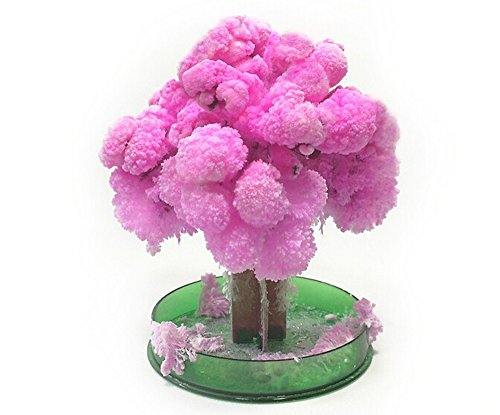 Hooshion Magic Growing Tree Snowflakes Paper Tree Magic Xmas Kids Toys for Children, Sakura Desktop Cherry Blossom Tree Decoration Novelty 2 ()