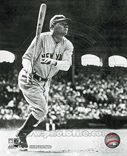 - Babe Ruth - Batting Action Photo 11 x 14in