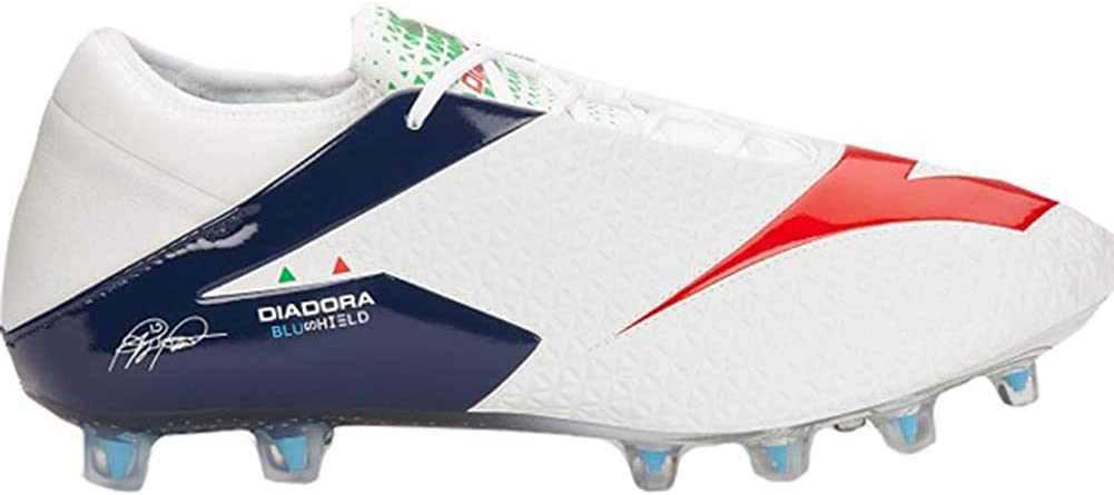 Diadora Mens MW RB BLUSHIELD BSH12 Soccer Cleats 6.5 M US, White//Blue//Red