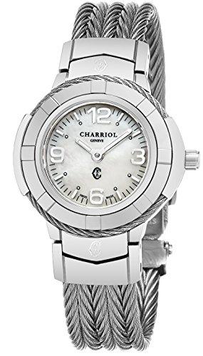 - Charriol Womens Celtic 27 MM MOP Dial Stainless Steel Swiss Quartz Watch CE426S.640.001
