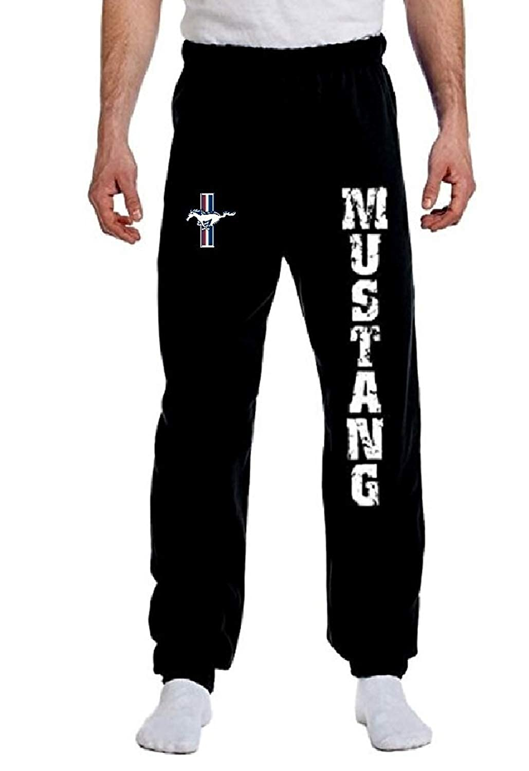 Amazon.com: Ford Mustang Sweatpants Vertical Ford Motor ...