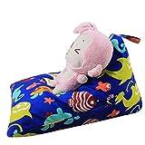 bestpriceam Kids Stuffed Animal Plush Toy Storage Bean Bag Soft Pouch Stripe Fabric Chair H